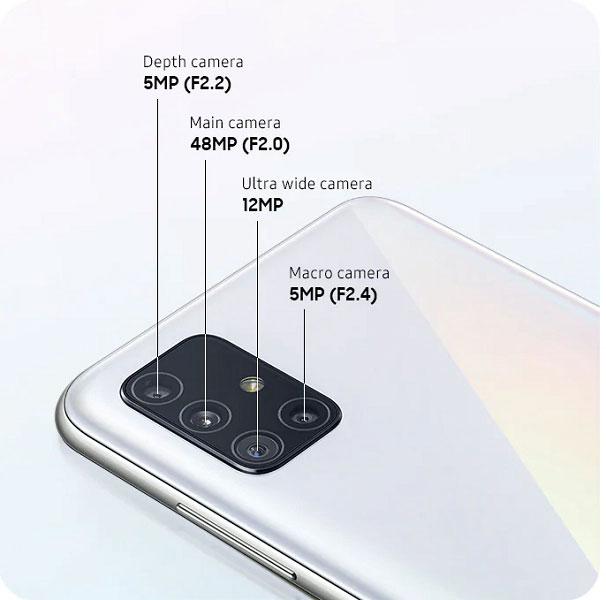 دوربین گوشی موبایل سامسونگ Samsung Galaxy A51