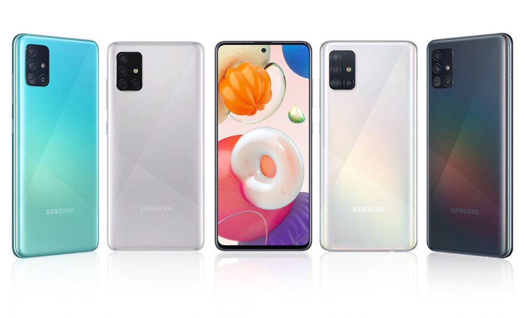 رنگهای گوشی موبایل سامسونگ Samsung Galaxy A51