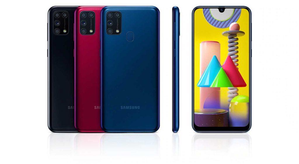 رنگهای گوشی موبایل سامسونگ Samsung Galaxy M31