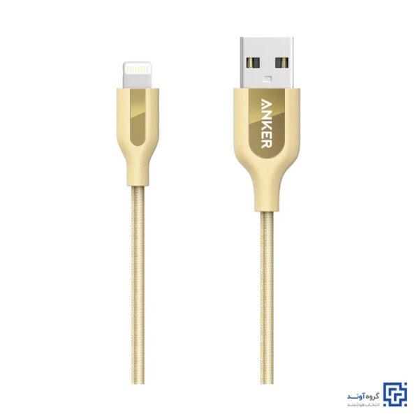 کابل تبدیل USB به Lightning انکر مدل A8121 PowerLine Plus طول 0.9 متر