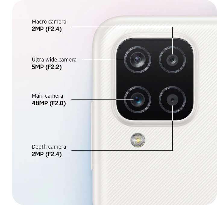 دوربین گوشی موبایل سامسونگ Samsung Galaxy A12