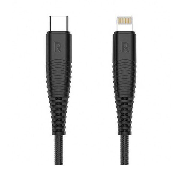 کابل تبدیل USB-C به Lightning راوپاور مدل RP-CB020 طول 1 متر