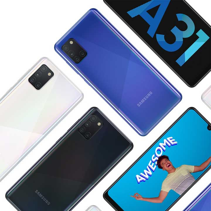 خرید اینترنتی گوشی موبایل سامسونگ Samsung Galaxy A31 از فروشگاه اینترنتی آوند موبایل
