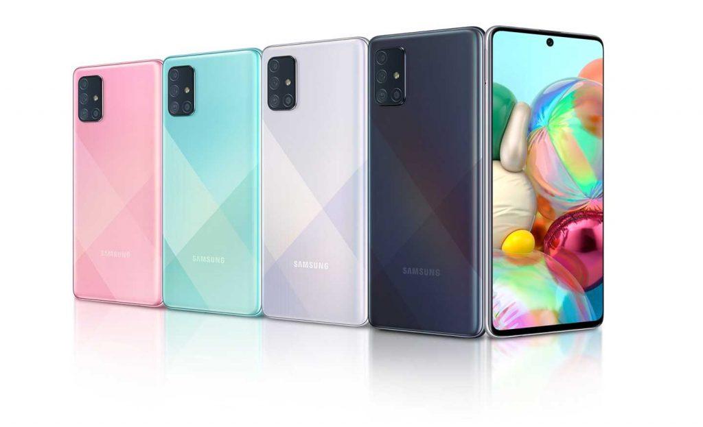 رنگهای گوشی موبایل سامسونگ Samsung Galaxy A71