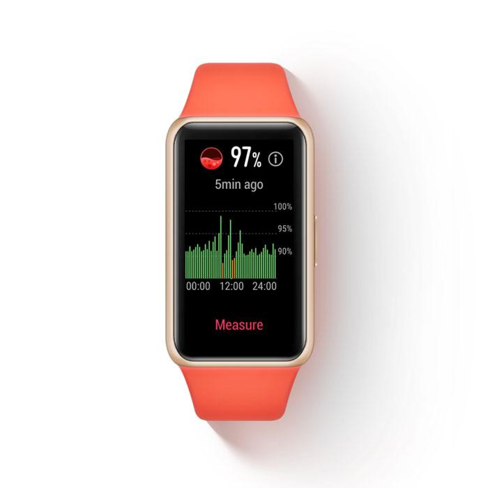 قابلیت مانیتورینگ اکسیژن خون Huawei Band 6