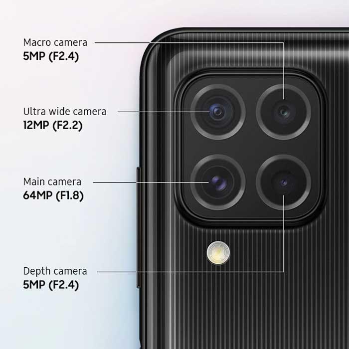 دوربین گوشی موبایل سامسونگ Samsung Galaxy M62