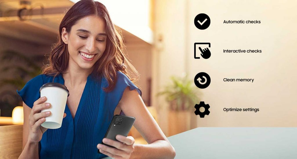 رابط کاربری گوشی موبایل سامسونگ Samsung Galaxy M62